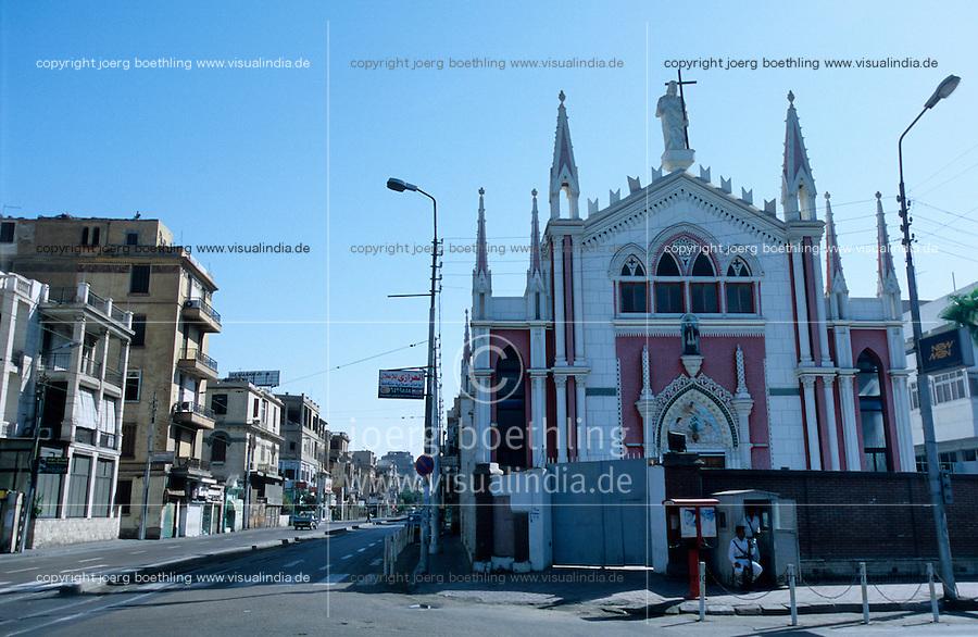 EGYPT Cairo, catholic church in Heliopolis with police protection / Aegypten Kairo Cairo, katholische Kirche in Heliopolis mit Polizeischutz