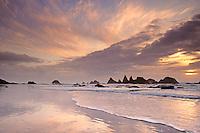 Sunset near Seal Rock. Oregon Coast.
