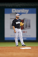 Chattanooga Lookouts second baseman Alex Robles (18) during a game against the Mobile BayBears on May 5, 2018 at Hank Aaron Stadium in Mobile, Alabama.  Chattanooga defeated Mobile 11-5.  (Mike Janes/Four Seam Images)