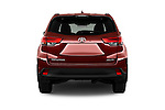 Straight rear view of 2018 Toyota Highlander SE 5 Door SUV Rear View  stock images