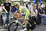 Ivan Basso (ITA) Liquigas-Cannondale waits to start the Prologue of the 99th edition of the Tour de France 2012, a 6.4km individual time trial starting in Parc d'Avroy, Liege, Belgium. 30th June 2012.<br /> (Photo by Eoin Clarke/NEWSFILE)