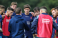 Caches give final words of encouragement ahead of the Greene King IPA Championship match between London Scottish Football Club and Ealing Trailfinders at Richmond Athletic Ground, Richmond, United Kingdom on 8 September 2018. Photo by David Horn.