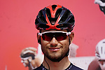 Filippo Ganna (ITA) Ineos Grenadiers at sign on before the start of Stage 6 of the 2021 UAE Tour running 165km from Deira Island to Palm Jumeirah, Dubai, UAE. 26th February 2021.  <br /> Picture: Eoin Clarke   Cyclefile<br /> <br /> All photos usage must carry mandatory copyright credit (© Cyclefile   Eoin Clarke)