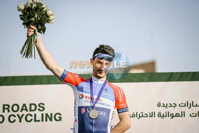 Niccoló Bonifazio (ITA) Total Direct Energie wins Stage 2 of the Saudi Tour 2020 running 187km from Sadus Castle to Al Bujairi, Saudi Arabia. 5th February 2020. <br /> Picture: ASO/Pauline Ballet | Cyclefile<br /> All photos usage must carry mandatory copyright credit (© Cyclefile | ASO/Pauline Ballet)