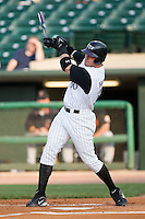 Louisville center fielder Josh Hamilton (30) follows through on his swing Indianapolis at Louisville Bats Field in Louisville, KY, Wednesday, August 8, 2007.