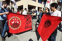 Manifestation des Manifestation contre le ''saccage de l'assurance-emploi'', le 2 octobre 2013<br /> <br /> Photo : Agence Quebec Presse.<br /> <br /> October2, 2013 file photo - Demonstration against changes and cuts in unemployement insurance
