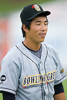 Kyeong Kang #32 of the Bowling Green Hot Rods at Fieldcrest Cannon Stadium August 23, 2009 in Kannapolis, North Carolina. (Photo by Brian Westerholt / Four Seam Images)