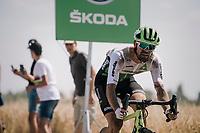 Reinardt Janse van Rensburg (ZAF/Dimension Data) on pavé sector #3<br /> <br /> Stage 9: Arras Citadelle > Roubaix (154km)<br /> <br /> 105th Tour de France 2018<br /> ©kramon