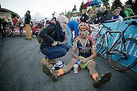 Jan Denuwelaere (BEL/Vastgoedservice-Golden Palace) post-race<br /> <br /> Superprestige Francorchamps 2014