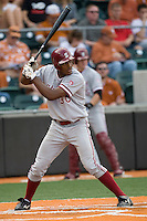Stanford OF Austin Wilson (30) at bat against the Texas Longhorns on March 4th, 2011 at UFCU Disch-Falk Field in Austin, Texas.  (Photo by Andrew Woolley / Four Seam Images)