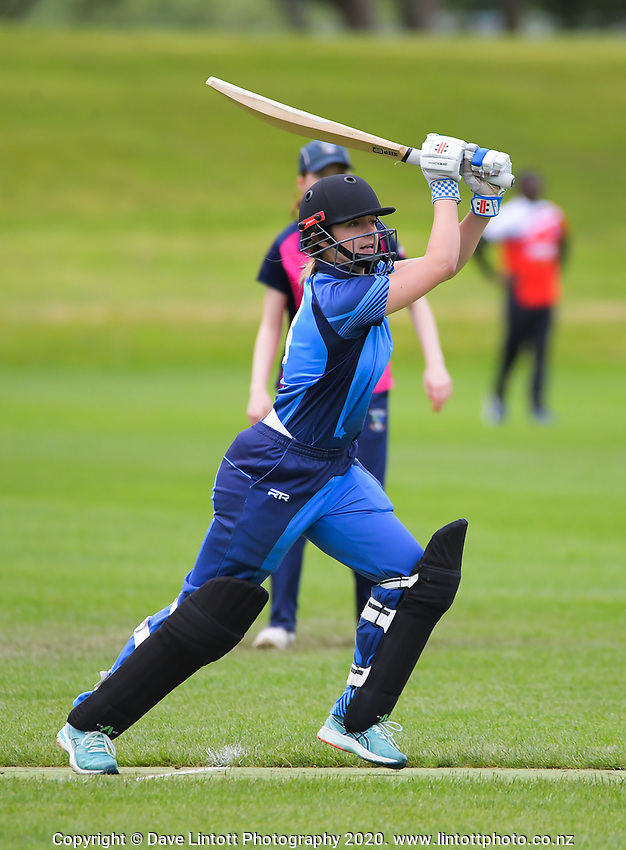 Action from the Joy Lamason One Day Wellington premier women's division one cricket match between Hutt Districts and Petone-Riverside in Upper Hutt, New Zealand on Saturday, 11 November 2020. Photo: Dave Lintott / lintottphoto.co.nz