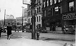 Bank and Center Streets, Waterbury, circa 1925.