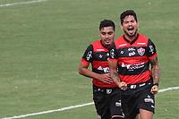 Campinas (SP), 20/01/2021 - Guarani-Vitória - Léo Ceará comemora gol do Vitória. Partida entre Guarani e Vitória válida pela 36ª rodada do Campeonato Brasileiro da Série B, no estádio Brinco de Ouro em Campinas, interior de São Paulo, nesta quarta-feira (20).