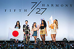 (L to R) Camila Cabello, Lauren Jauregui, Ally Brooke, Normani Hamilton and Dina-Jane Hansen, members of the American five-piece girl group Fifth Harmony pose for the cameras during a fan event on July 9, 2016, in Tokyo, Japan. Fifth Harmony is in Japan for the first time to promote their new song Work from Home after finishing their South American tour. (Photo by Rodrigo Reyes Marin/AFLO)