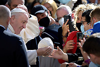 Pope Francis during the General audience in the Saint Damaso courtyard. Vatican City,May 26, 2021