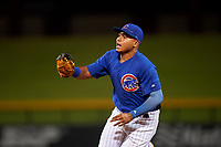 AZL Cubs 1 first baseman Ervis Marchan (21) during an Arizona League game against the AZL D-backs on July 25, 2019 at Sloan Park in Mesa, Arizona. The AZL D-backs defeated the AZL Cubs 1 3-2. (Zachary Lucy/Four Seam Images)