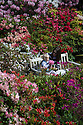 22/05/16 <br /> <br /> Holly Jozefiak and two-year-old daughter Ophelia Jozefiak from Derby.<br /> <br /> Enjoying the rhododendrons and azaleas in full bloom in the spring sunshine at Lea Gardens near Matlock in the Derbyshire Peak District.<br /> Owner, Pete Tye said the brightly coloured rhododendrons are the best they have ever been this year.<br /> All Rights Reserved: F Stop Press Ltd. +44(0)1335 418365   +44 (0)7765 242650 www.fstoppress.com