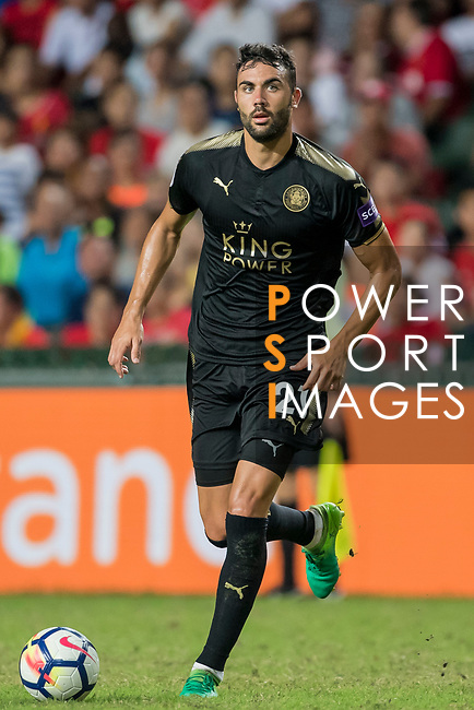 Leicester City FC midfielder Vicente Iborra in action during the Premier League Asia Trophy match between Liverpool FC and Leicester City FC at Hong Kong Stadium on 22 July 2017, in Hong Kong, China. Photo by Weixiang Lim / Power Sport Images