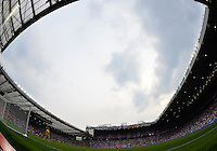July 26, 2012..View of Old Trafford pitch. UAE vs Uruguay Football match during 2012 Olympic Games at Old Trafford in Manchester, England. Uruguay defeat United Arab Emirates 2-1...