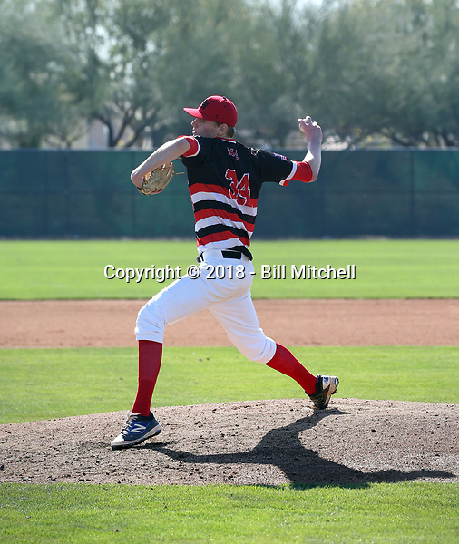 Avery Plum plays in the 2018 Perfect Game MLK Upperclass Championship West on January 12-15, 2018 at Camelback Ranch in Glendale, Arizona (Bill Mitchell)