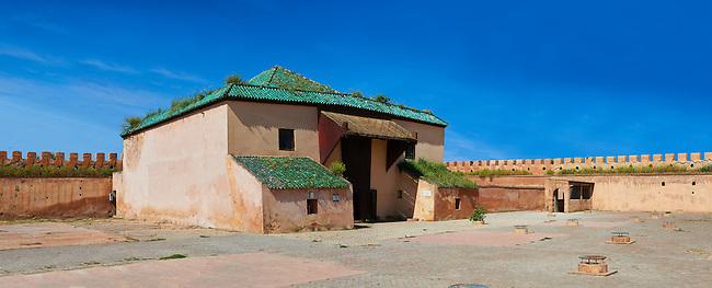 The 17th century Berber Pavillion of the Ambassadeurs built Sultan Moulay Ismail.   A UNESCO World Heritage Site .Meknes, Meknes-Tafilalet, Morocco.