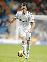 Real Madrid's Alvaro Arbeloa during La Liga match. December 16, 2012. (ALTERPHOTOS/Alvaro Hernandez)