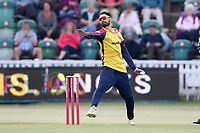 Aron Nijjar in bowling action for Essex during Somerset vs Essex Eagles, Vitality Blast T20 Cricket at The Cooper Associates County Ground on 9th June 2021