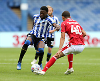 Sheffield Wednesday's Dominic Iorfa under pressure from Nottingham Forest's Brennan Johnson<br /> <br /> Photographer Rich Linley/CameraSport<br /> <br /> The EFL Sky Bet Championship - Sheffield Wednesday v Nottingham Forest - Saturday 20th June 2020 - Hillsborough - Sheffield <br /> <br /> World Copyright © 2020 CameraSport. All rights reserved. 43 Linden Ave. Countesthorpe. Leicester. England. LE8 5PG - Tel: +44 (0) 116 277 4147 - admin@camerasport.com - www.camerasport.com