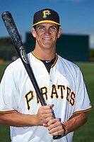 Pittsburgh Pirates Kevin Newman poses for a photo after instructional league practice on October 2, 2015 at Pirate City in Bradenton, Florida.  (Mike Janes/Four Seam Images)