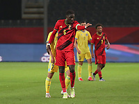 Amadou Onana (6) of Belgium gestures during a soccer game between the national teams Under21 Youth teams of Belgium and Kazakhstan on the third matday in group I for the qualification for the Under 21 EURO 2023 , on friday 8 th of october 2021  in Leuven , Belgium . PHOTO SPORTPIX | SEVIL OKTEM