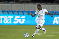 SAN JOSE, CA - SEPTEMBER 16: Diego Chara #21 of the Portland Timbers controls the ball during a game between Portland Timbers and San Jose Earthquakes at Earthquakes Stadium on September 16, 2020 in San Jose, California.