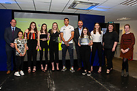 Pictured: Courtney Baker-Richardson of Swansea City during the Swans Community Trust awards dinner at the liberty stadium in Swansea, Wales, UK <br /> Thursday 02 April 2019