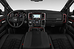 Stock photo of straight dashboard view of 2017 Ram 1500 Rebel Crew 4 Door Pick Up