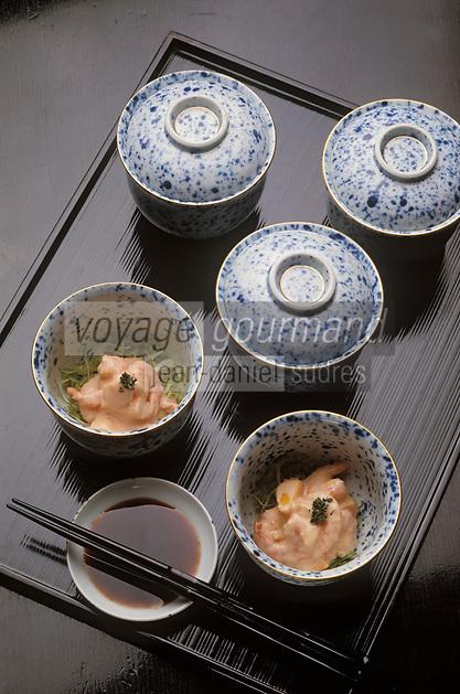 Asie/Japon: Crevettes aux algues et à la sauce soja