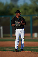 AZL D-backs starting pitcher Gerald Ogando (31) during an Arizona League game against the AZL Mariners on July 3, 2019 at Salt River Fields at Talking Stick in Scottsdale, Arizona. The AZL D-backs defeated the AZL Mariners 3-1. (Zachary Lucy/Four Seam Images)