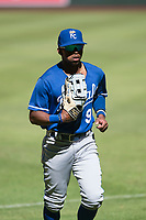 Kansas City Royals outfielder Rudy Martin (9) jogs off the field between innings of an Instructional League game against the Arizona Diamondbacks at Chase Field on October 14, 2017 in Scottsdale, Arizona. (Zachary Lucy/Four Seam Images)