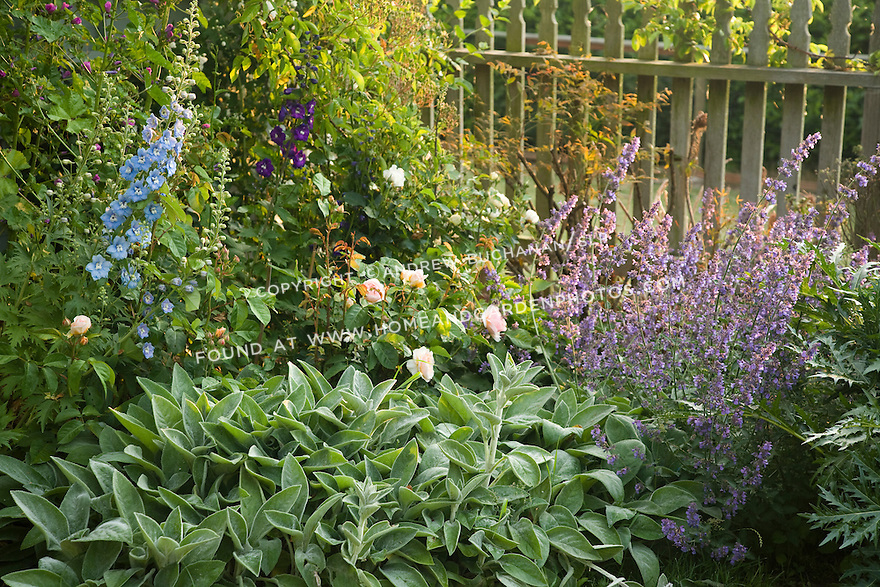 a 2-acre residential garden garden on rural property north of Seattle features recycled, reused, and repurposed materials, a romantic farmhouse cottage garden, and a white garden modeled on the famous garden at Sissinghurst.