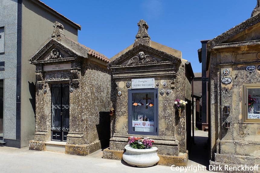 Friedhof in Enna, Sizilien, Italien