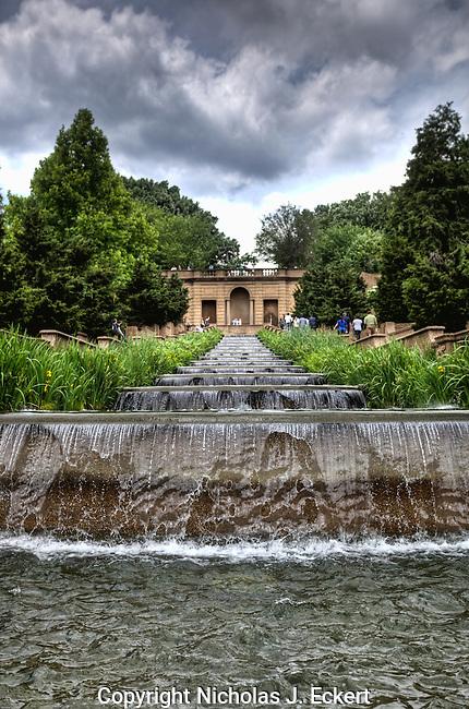 Man-Made Waterfall at Meridian Park