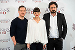 "German actor Michael Fassbender, french actress Marion Cotillard and the director of the film Justin Kurzel during the presentation of the film ""Assassin's Creed"" in Madrid, Spain. December 07, 2016. (ALTERPHOTOS/BorjaB.Hojas)"