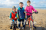 Johnny, Danny and Emmy Dowling enjoying a stroll in Banna beach on New Years Day.