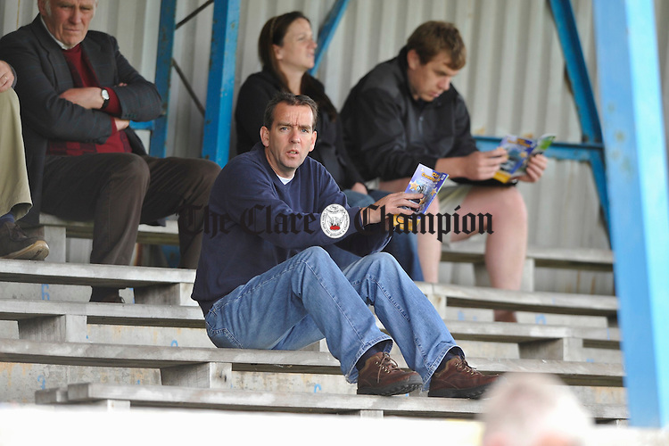 Kerry senior football manager Pat O Shea checks out his opposition possibilities at the Clare V Waterford game in Cucack Park. Photograph by John Kelly.