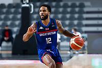 22nd February 2021, Podgorica, Montenegro; Eurobasket International Basketball qualification for the 2022 European Championships, England versus France;  Tarik Phillip of Great Britain
