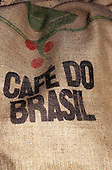 Brazil. Cafe do Brasil hessian coffee sack.