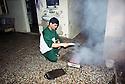 Syria 2000 <br /> In Afrin, a Kurd preparing brochettes at home   <br /> <br /> Syrie 2000 <br /> Un Kurde preparant des brochettes dans une maison d'Afrin