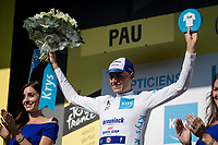 Enric Mas (ESP/Deceuninck - QuickStep) is the new white jersey / best young rider<br /> <br /> Stage 13 (ITT): Pau to Pau (27km)<br /> 106th Tour de France 2019 (2.UWT)<br /> <br /> ©kramon