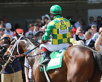 May 2 2015:  Finnegans Wake (5) with Victor Espinoza win the 28th running of the Grade I Woodford Reserve Turf Classic for 4-year olds & up going 1 1/8 mile on the turf at Churchill Downs.  Trainer Peter Miller. Owner Donegal Racing and Rockingham Ranch. Sue Kawczynski/ESW/CSM