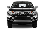 Car photography straight front view of a 2016 Mitsubishi L 200 Intense 4 Door Pickup Front View