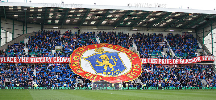 Rangers fans at the Ramsdens Cup Final