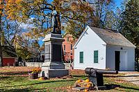 War memorial at the town center, Chester, Vermont, USA.